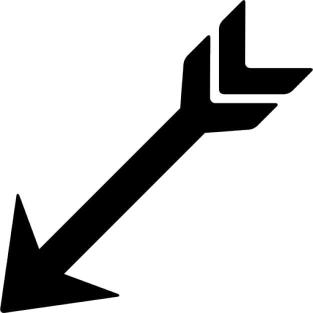 Indian arrow pointing left down Icons | Free Download