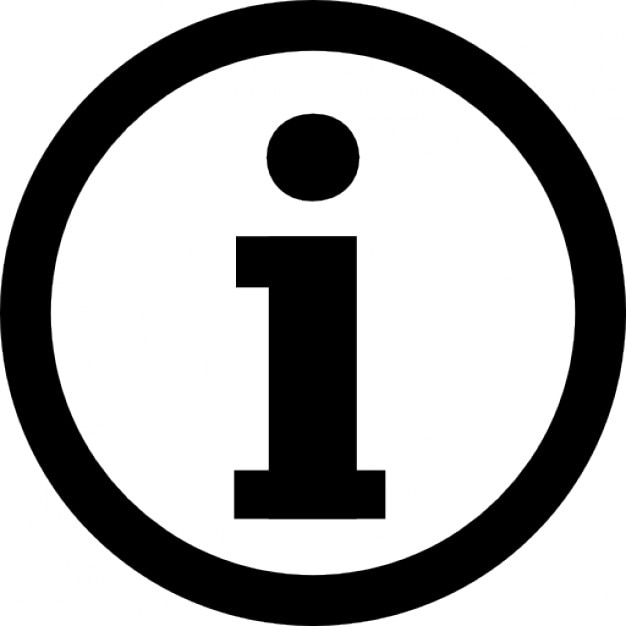 Information logotype in a circle Free Icon