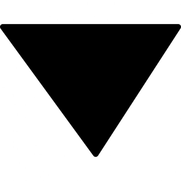 Inverted Triangle Black Variant Icons Free Download