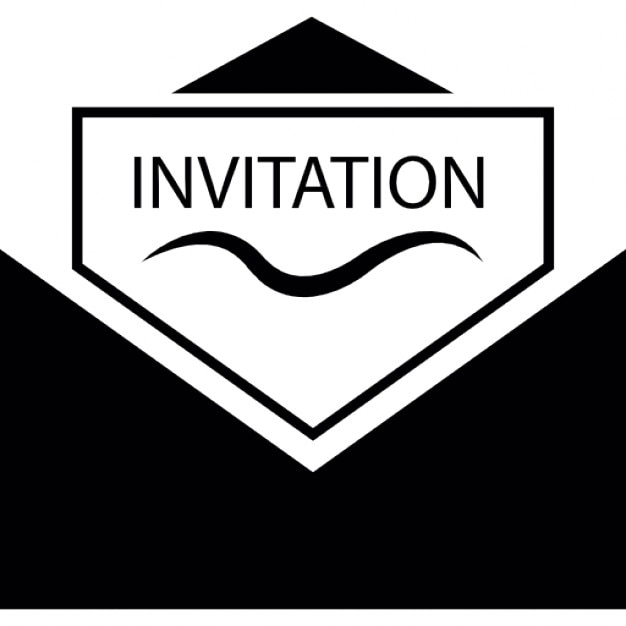 Invitation inside an envelope Icons Free Download
