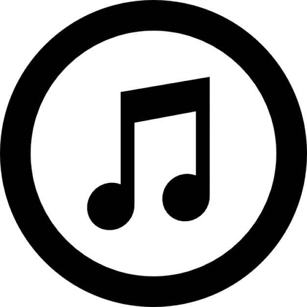 itunes logo of amusical note inside a circle icons free download rh freepik com itunes logo vector 2017 itunes app store logo vector