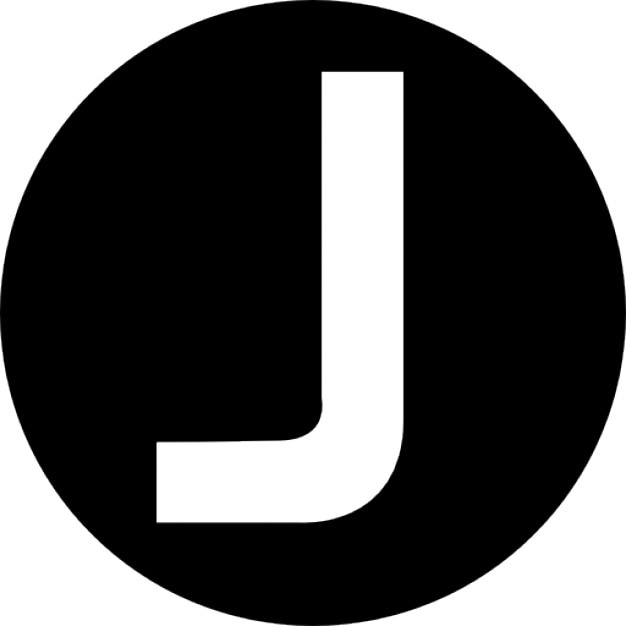 J Capital Letter In A Circle Icons Free Download