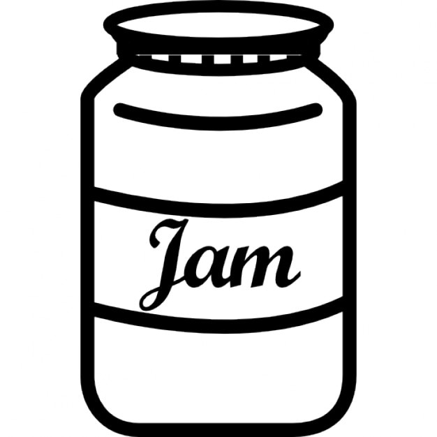 jam jar with label icons free download raspberry clip art black and white strawberry clip art