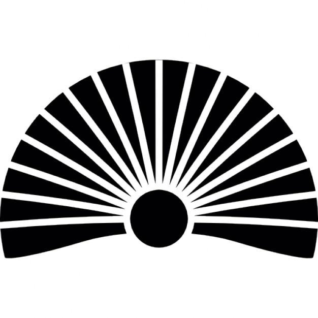 Japan Sunrise Sun Symbol Like Fan Icons Free Download