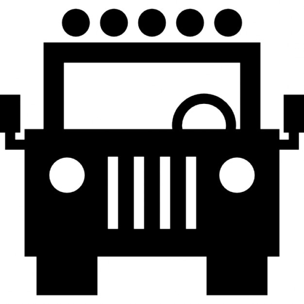 jeep front view icons free download