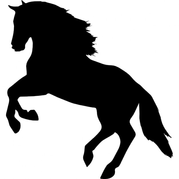 jumping horse silhouette facing left side view icons free download rh freepik com horse riding silhouette vector horse racing silhouette vector