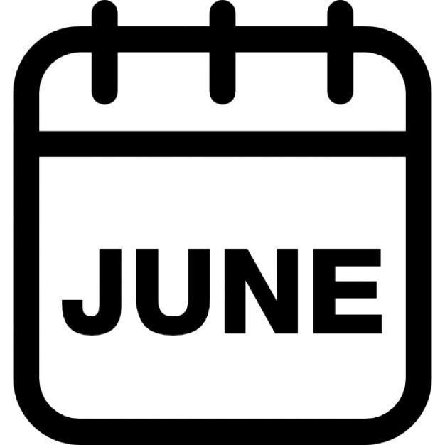 Calendar Graphic Icon : June calendar monthly page icons free download