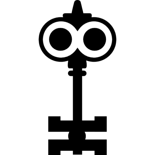 Key Design Like A Cartoons Character With Big Eyes Icons Free Download