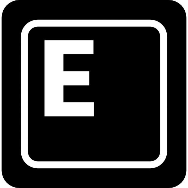 Keyboard key E Icons | Free Download