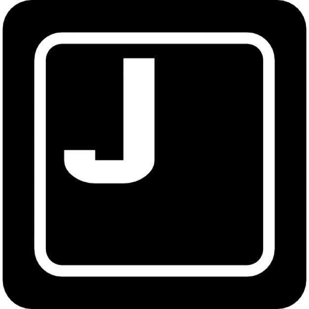 Keyboard Key With J Letter Icons Free Download