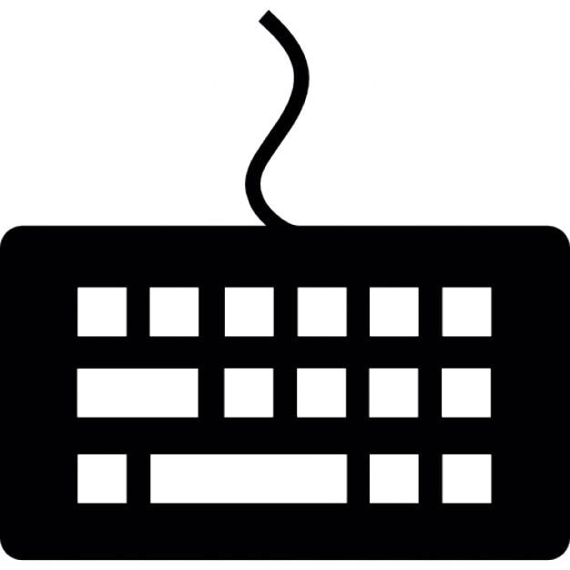 Keyboard top view, IOS 7 interface symbol Icons | Free ...