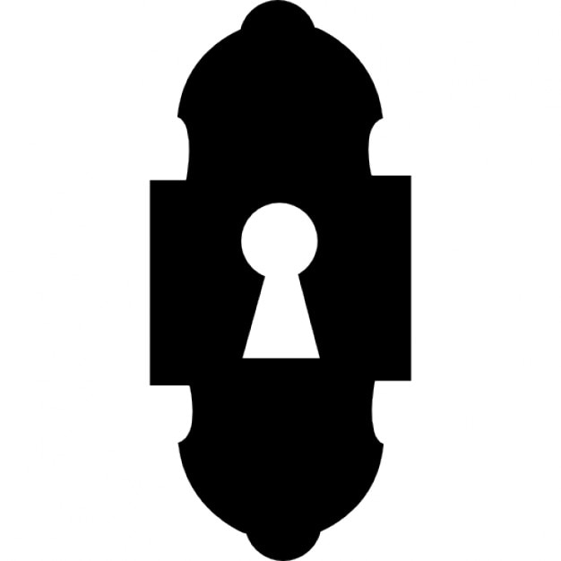 Keyhole Design Variant Silhouette Icons Free Download