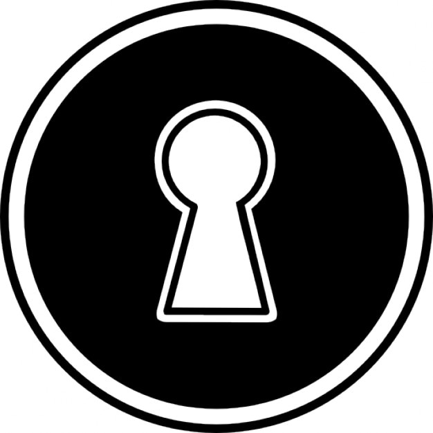 Keyhole in a circular shape Icons   Free Download