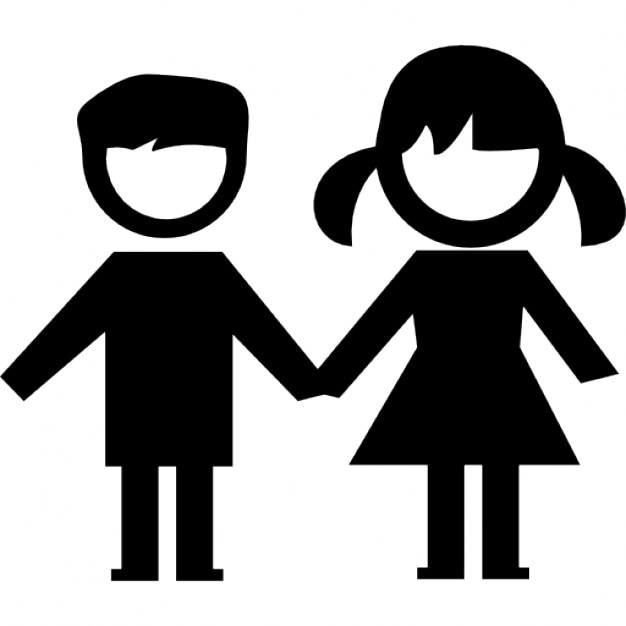 kids couple free icon - Kids Images Free