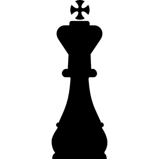 King chess piece shape Icons | Free Download