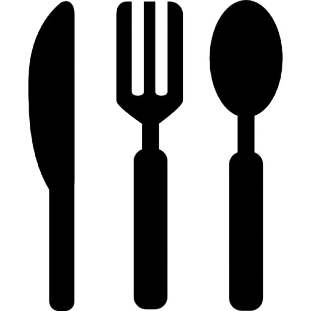 knife, fork and spoon tools icons | free download