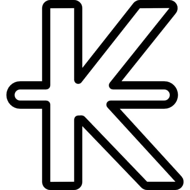 Laos Kip Currency Symbol Icons Free Download