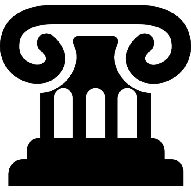 Law Symbol Of Chapiter Of A Column Icons Free Download