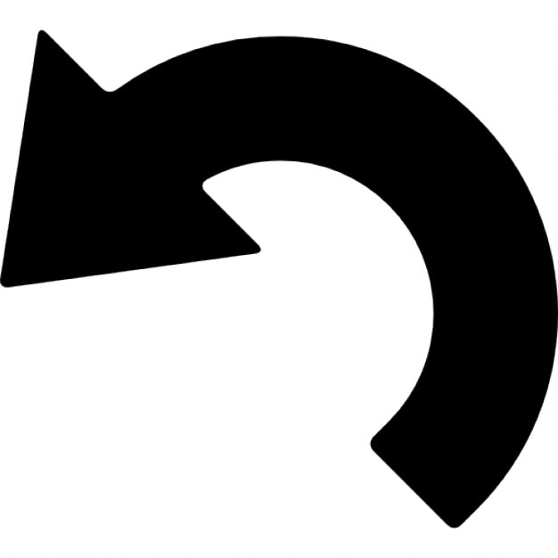 Left Curved Arrow Free Icon