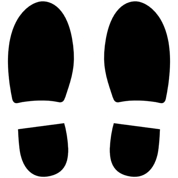 Left and right shoe footprints Free Icon