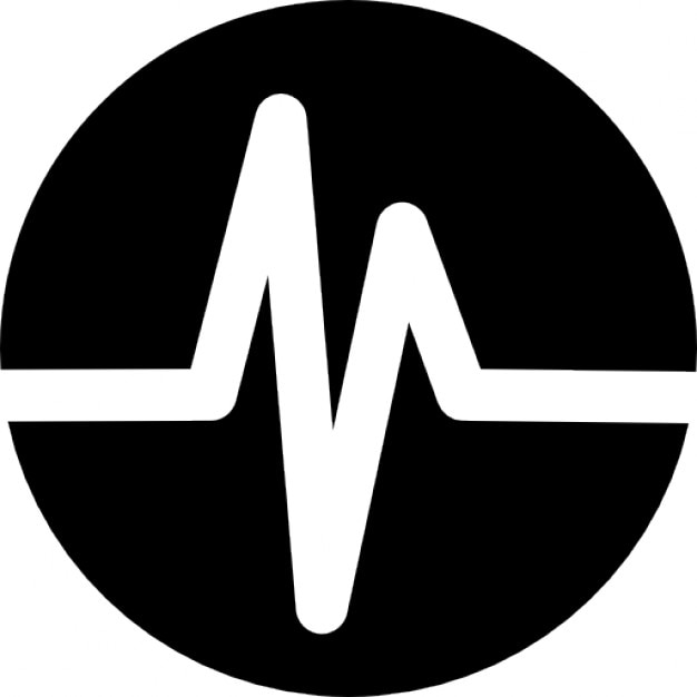 Lifeline Of Heartbeat In A Circle Icons Free Download