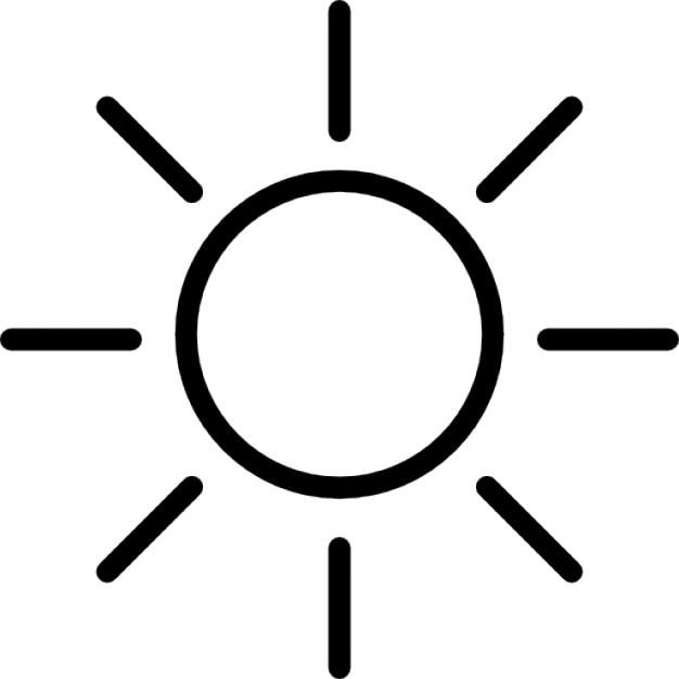 light beam sun outline icons free download rh freepik com Tree Outline Vector Sun Design Vector