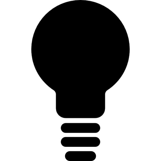Light Bulb Black Shape Free Icon