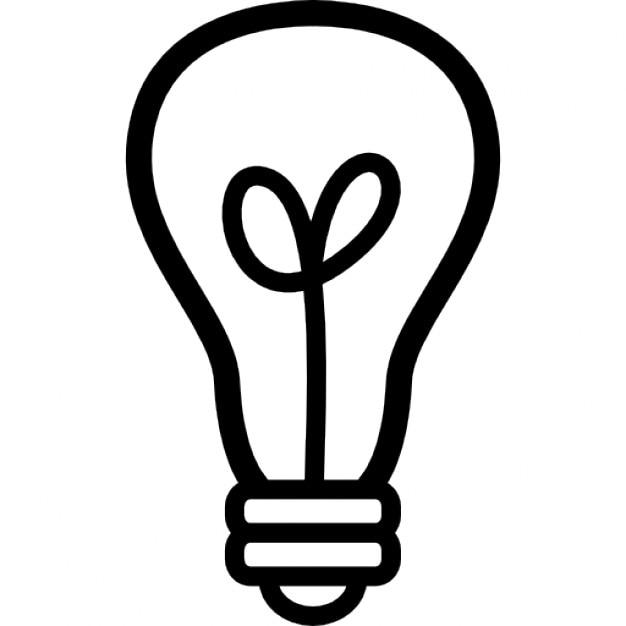 Line Art Light Bulb : Light bulb outline icons free download