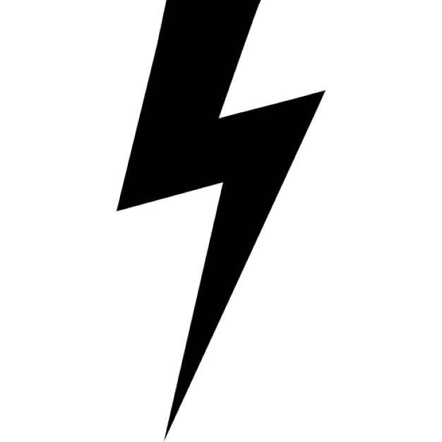 lightning bolt black shape icons free download rh freepik com lightning bolt vector image lighting bolt vector file