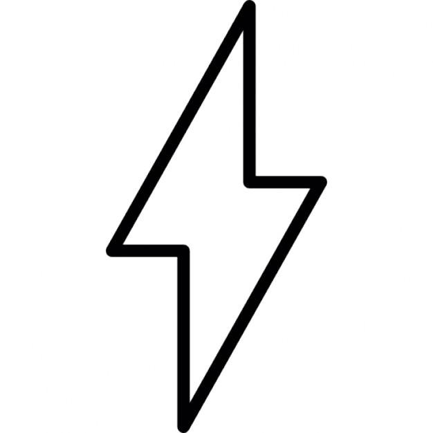 lightning bolt outline icons free download rh freepik com