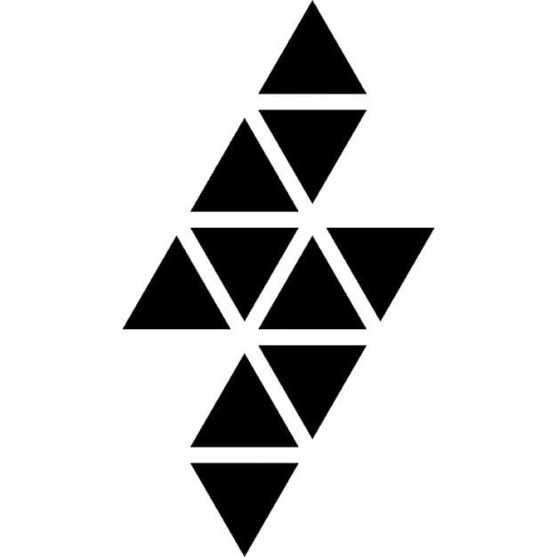 lightning bolt polygonal shape of small triangles icons free download