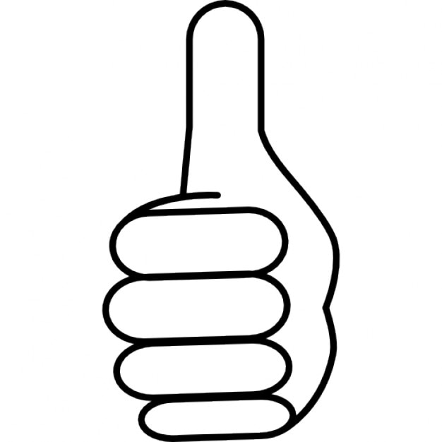 Like Thumb Up Symbol Outline Icons Free Download