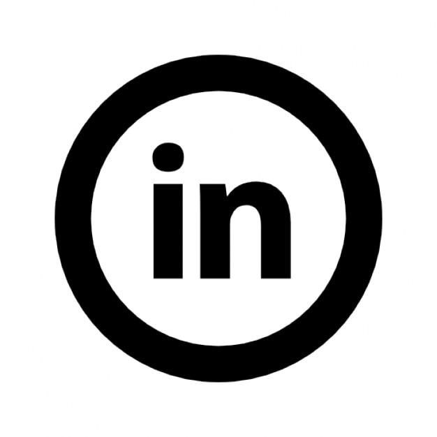 Linkedin круговой Бесплатные Иконки