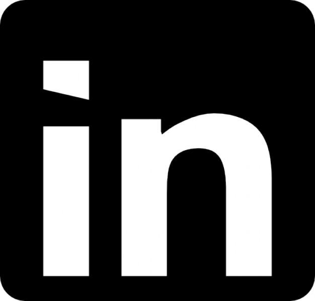 Linkedin логотип с закругленными углами Бесплатные Иконки