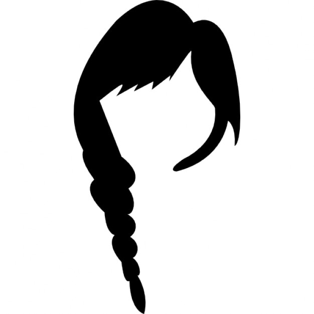 Long Female Hair Icons Free Download
