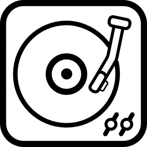 Long Record Player Vintage Tool Outline Icons Free Download