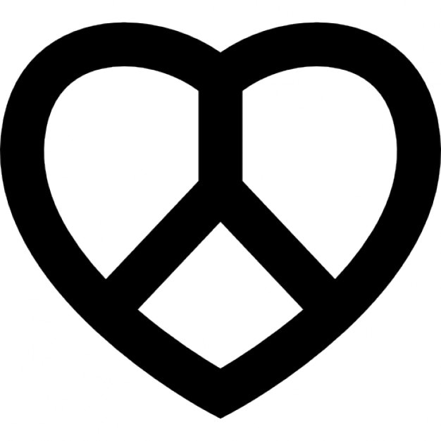 Love And Peace Symbol Icons Free Download