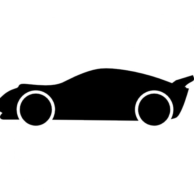 Lowered racing car side view silhouette Icons | Free Download