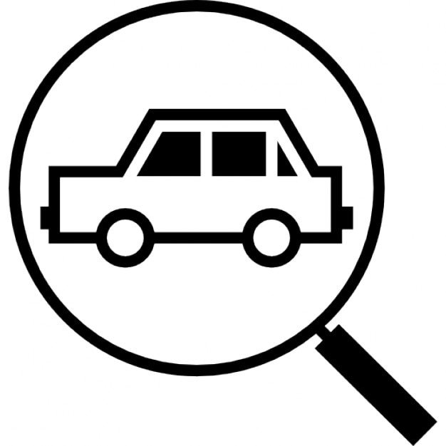 Magnifying Lens On A Car Icons Free Download