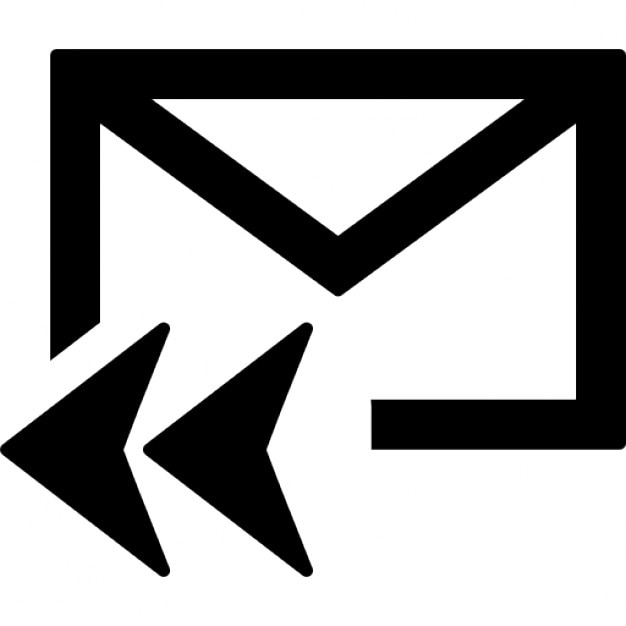 Mail Reply All Symbol For Interface Icons Free Download