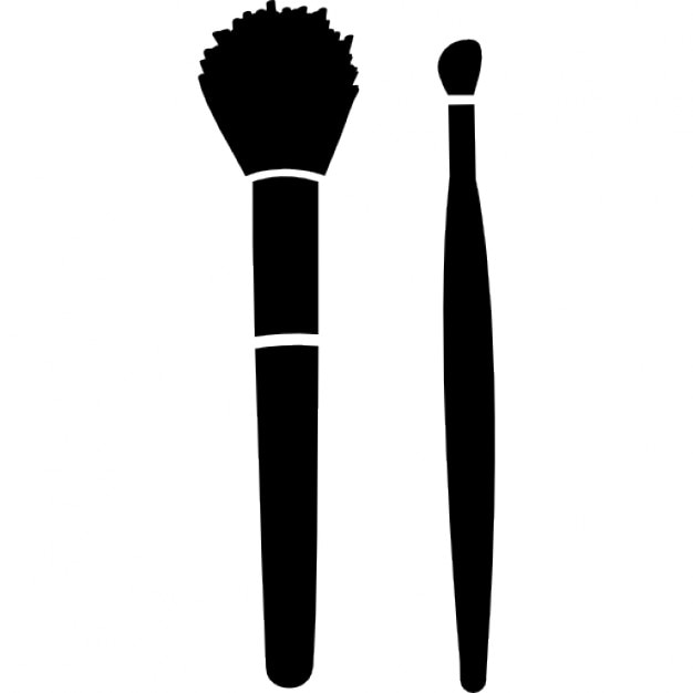 Make Up Brushes For Blush And Lipstick Icons Free Download
