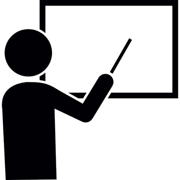 Book Icon Vector Male Student Or Teacher Person Profile: Male Cartoon Pointing To White Board Icons