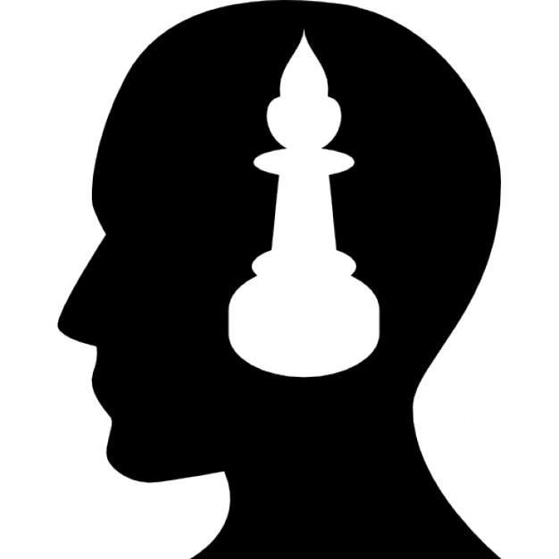male side view silhouette with candle free icon