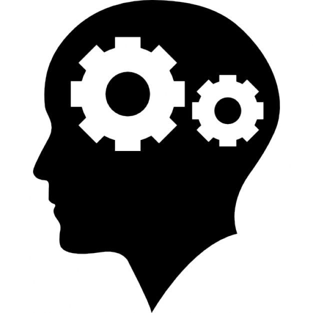 man bald head with two gears inside icons free download rh freepik com head vector 100 head vector 100