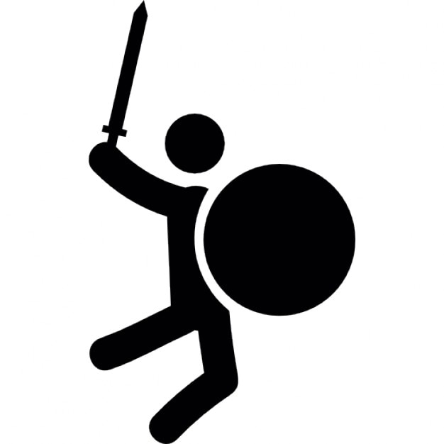Sword And Shield Icon Man combat with sword and circular shield icons ...: galleryhip.com/sword-and-shield-icon.html