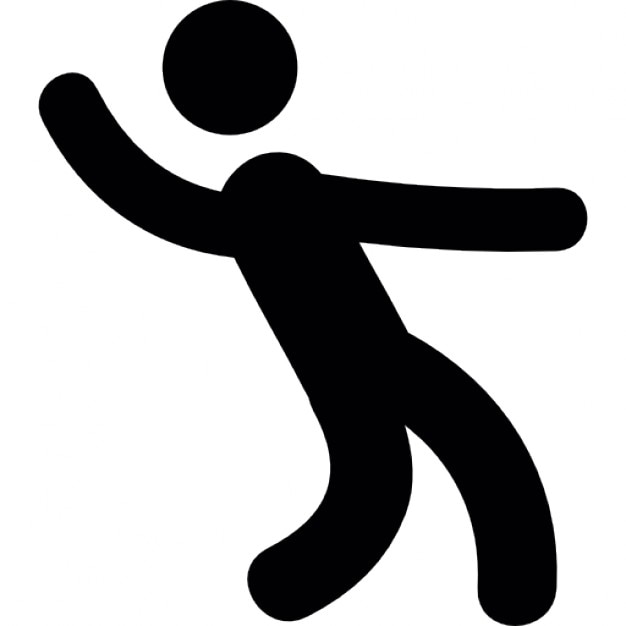 Man Dancing Silhouette Icons Free Download