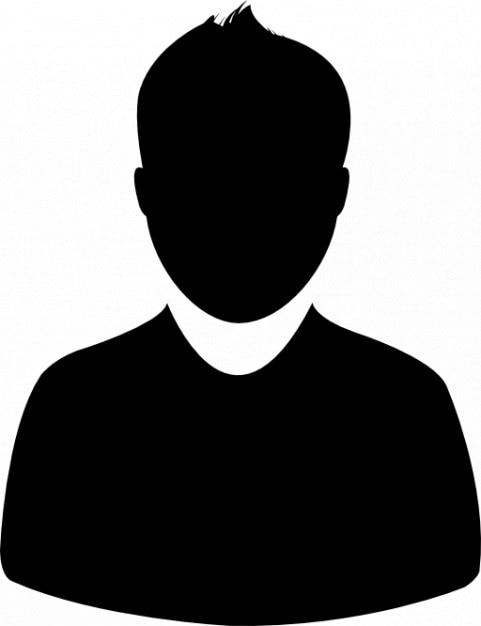 Человек dark avatar Бесплатные Иконки