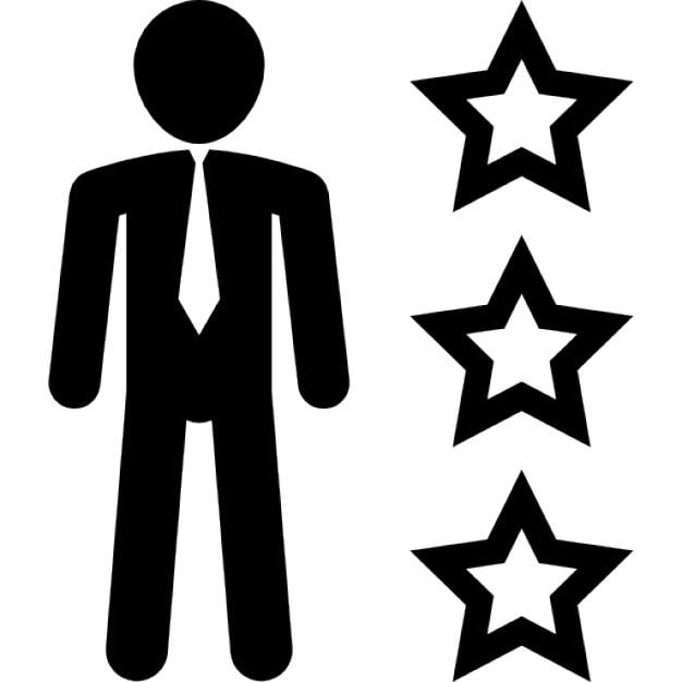Man in business attire with three stars outline icons free download man in business attire with three stars outline free icon sciox Gallery