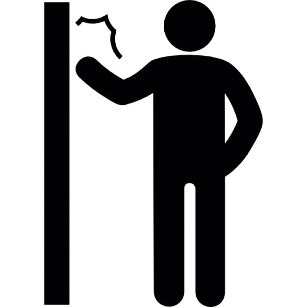 Man knocking a door Free Icon  sc 1 st  Freepik : knock door - Pezcame.Com