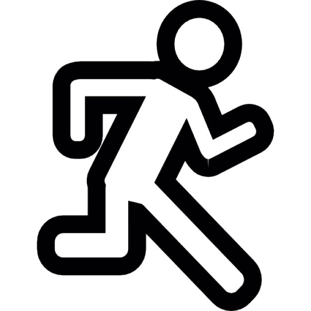 Man Running From Side View Ios 7 Interface Symbol Icons Free Download